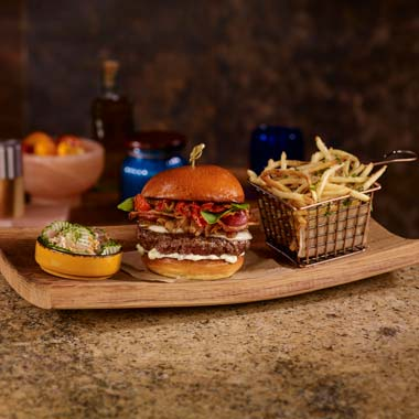 The Burger — Plateia Restaurant