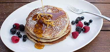 Ricotta & Fresh Berry Pancakes — Plateia Restaurant