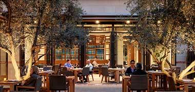 Plateia Restaurant Courtyard