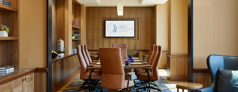 inside meeting room at ucla luskin conference center and hotel