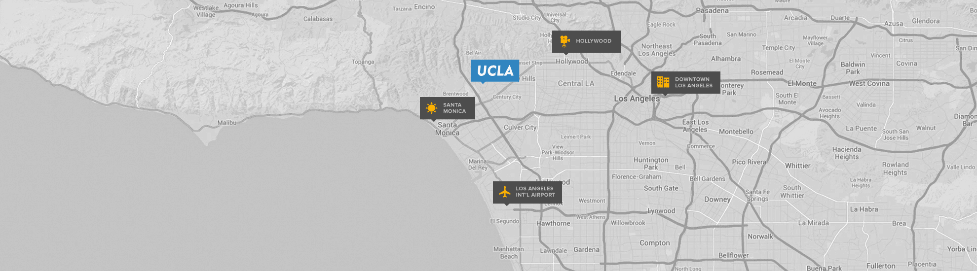 map of ucla luskin conference center and hotel