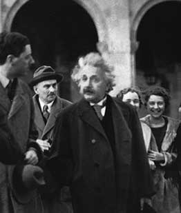 albert einstein guest speaking at ucla campus