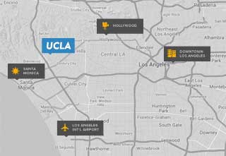 LAX directions map