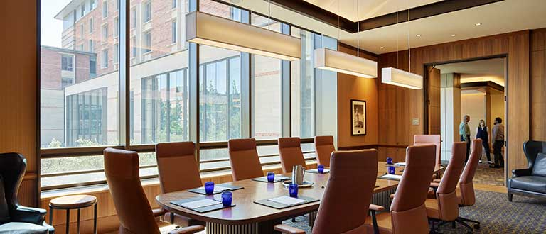boardroom at ucla luskin center