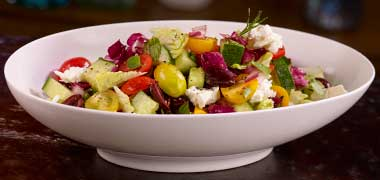 Greek Village Salad — Plateia Restaurant