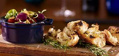 Warm Olive Appetizer — Plateia Restaurant