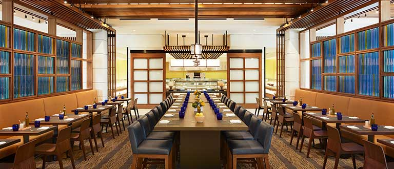 ucla luskin conference center and hotel plateia restaurant