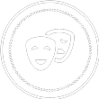 performance arts masks logo