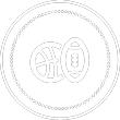 sports logo with basketball and football