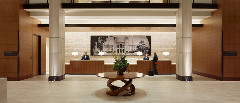 portrait of ucla luskin conference center and hotel