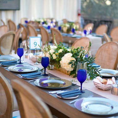 Outdoor Centennial Terrace — Dinner Setup