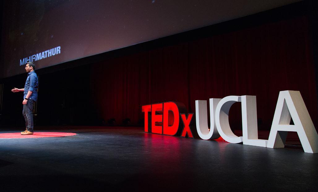 Speaker on TEDx UCLA stage